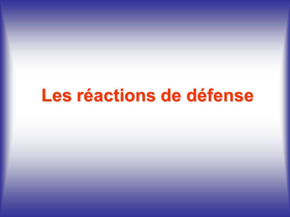 Les réactions de défense