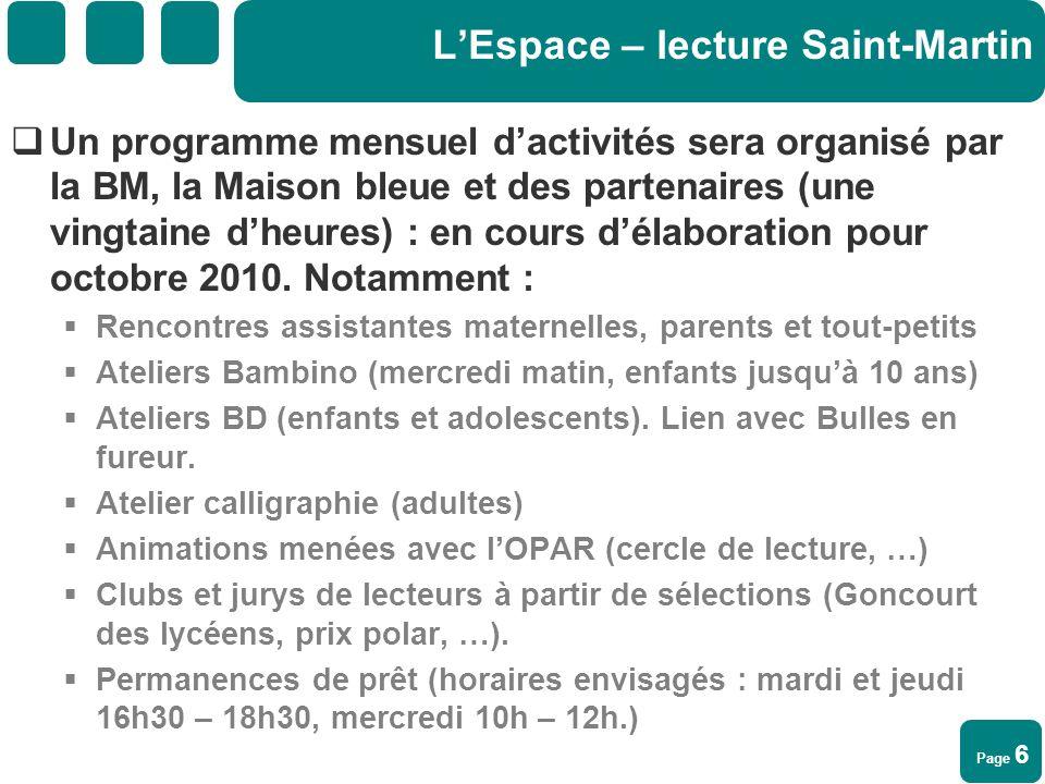 L'Espace – lecture Saint-Martin