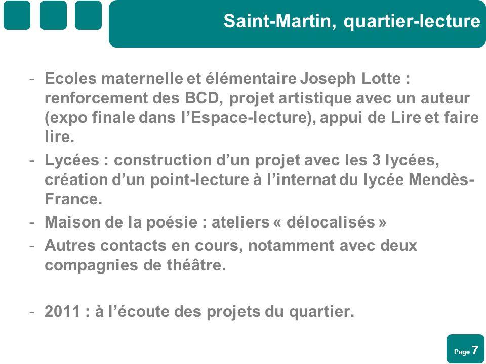 Saint-Martin, quartier-lecture
