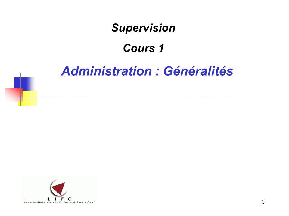 Administration : Généralités