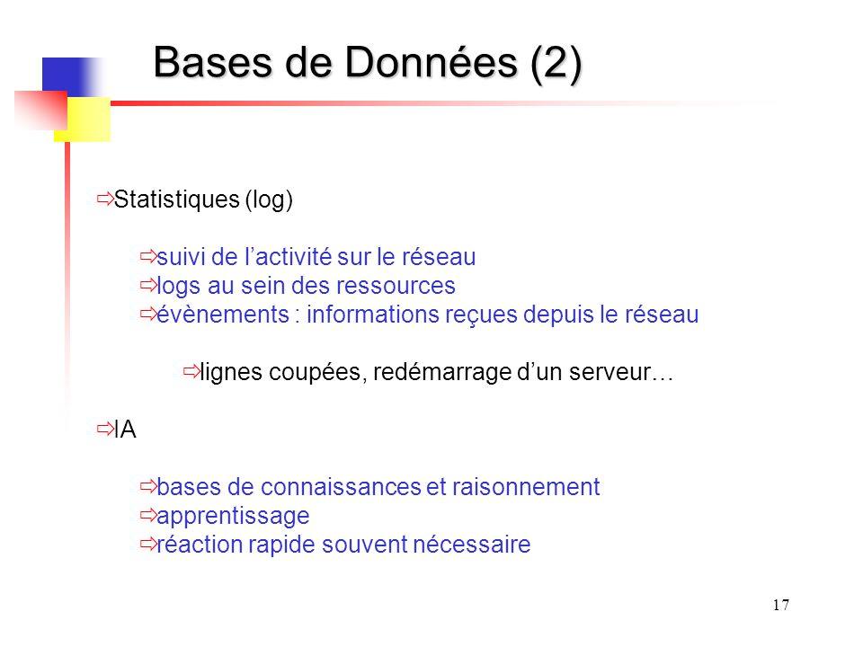Bases de Données (2) Statistiques (log)