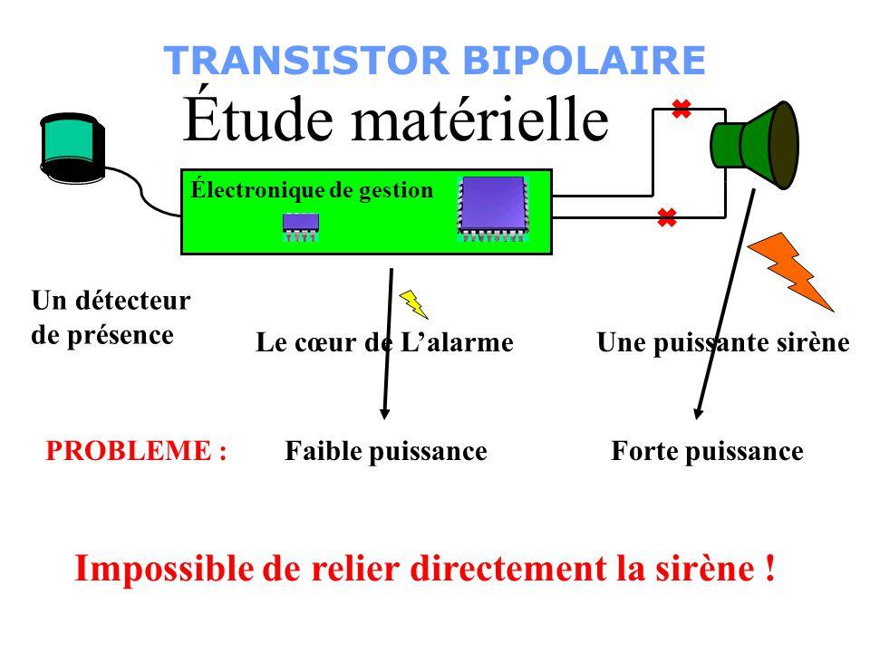 Étude matérielle TRANSISTOR BIPOLAIRE