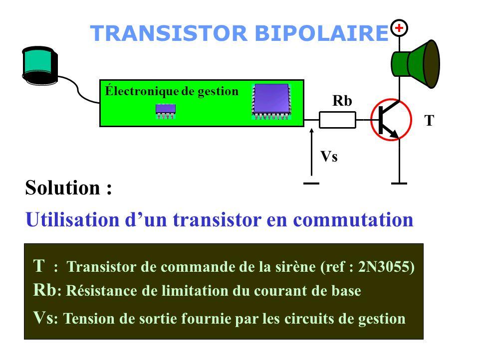Utilisation d'un transistor en commutation