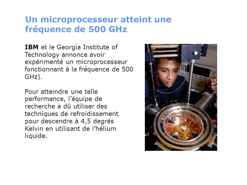 Un microprocesseur atteint une fréquence de 500 GHz