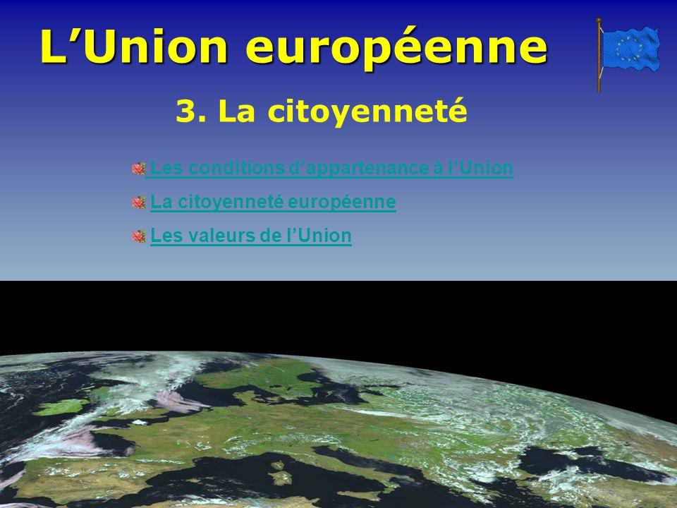 L'Union européenne 3. La citoyenneté