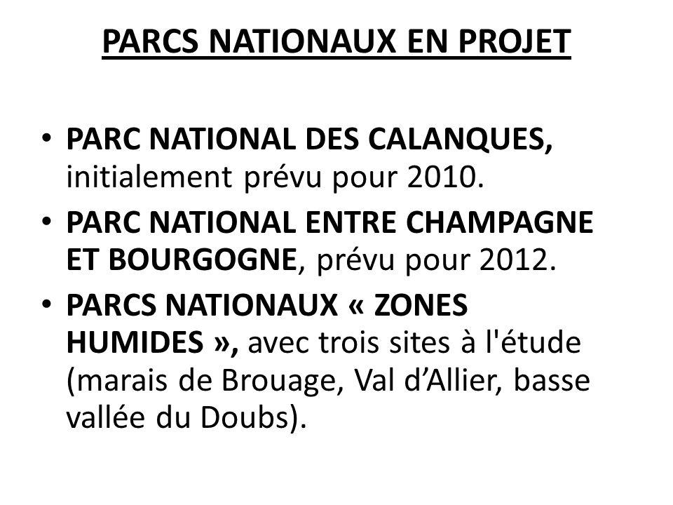 PARCS NATIONAUX EN PROJET