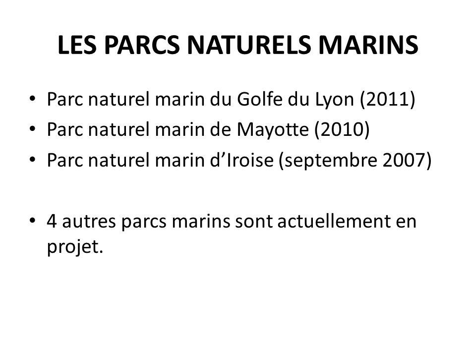 LES PARCS NATURELS MARINS