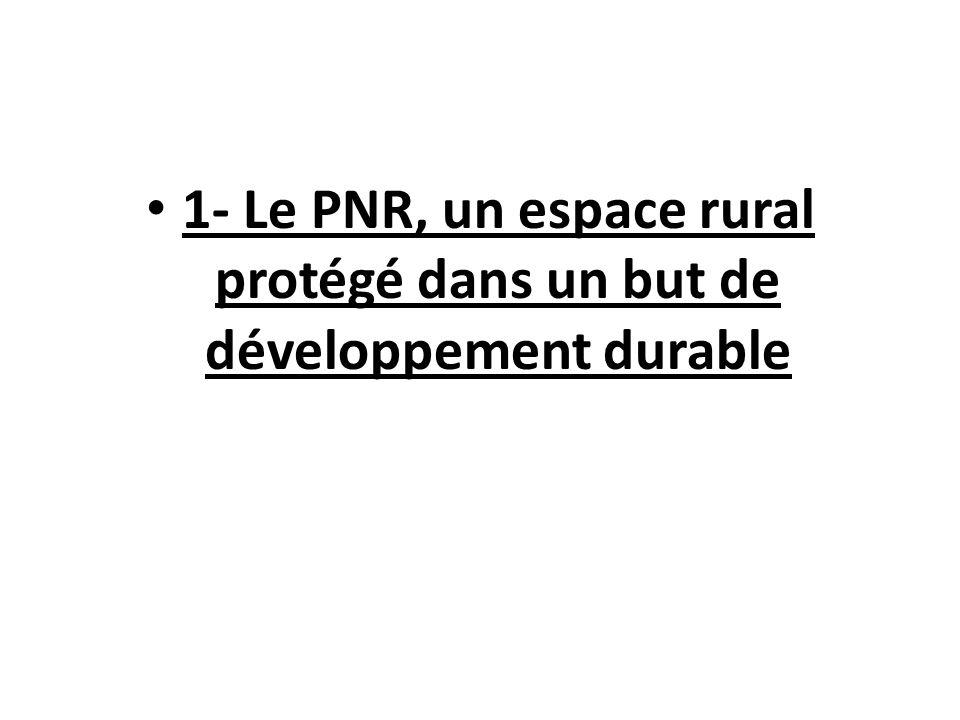 1- Le PNR, un espace rural protégé dans un but de développement durable
