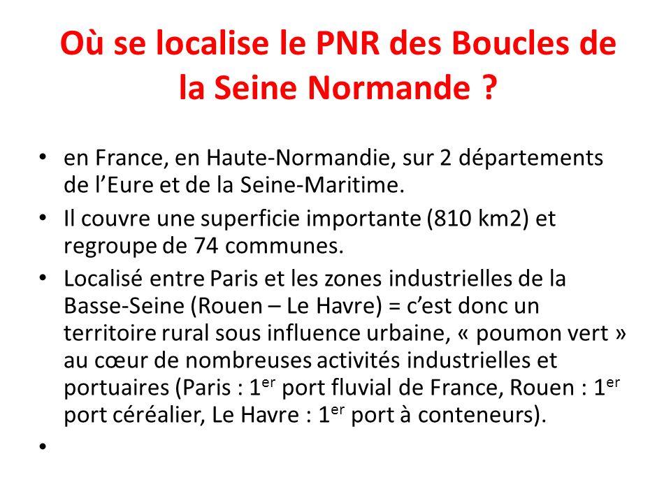 Où se localise le PNR des Boucles de la Seine Normande