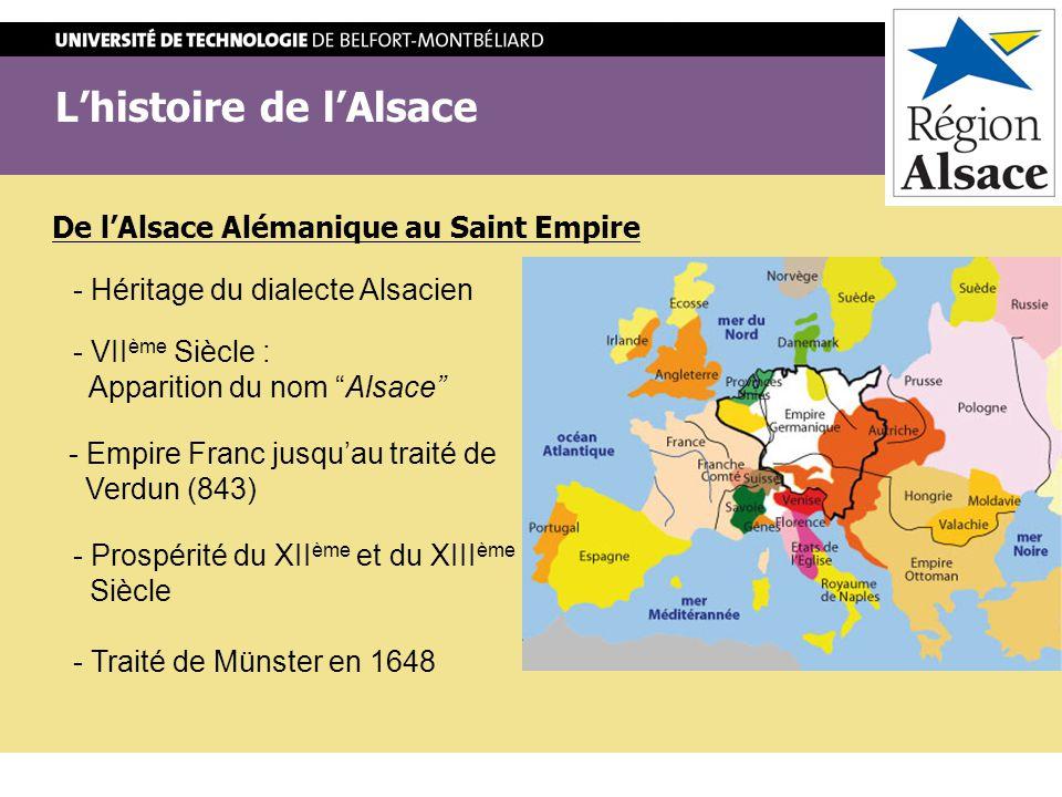 L'histoire de l'Alsace