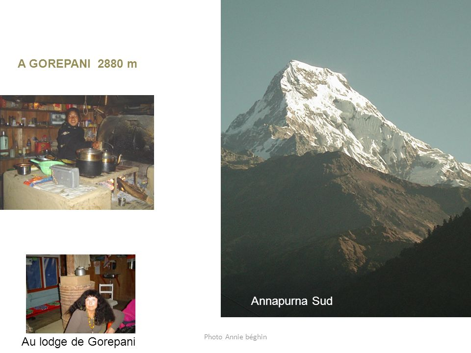 Annapurna Sud de Gorepani