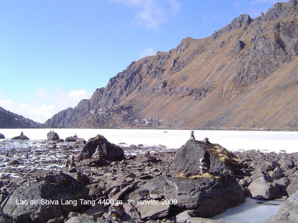 Lac de Shiva Lang Tang 4400 m .1er janvier 2009