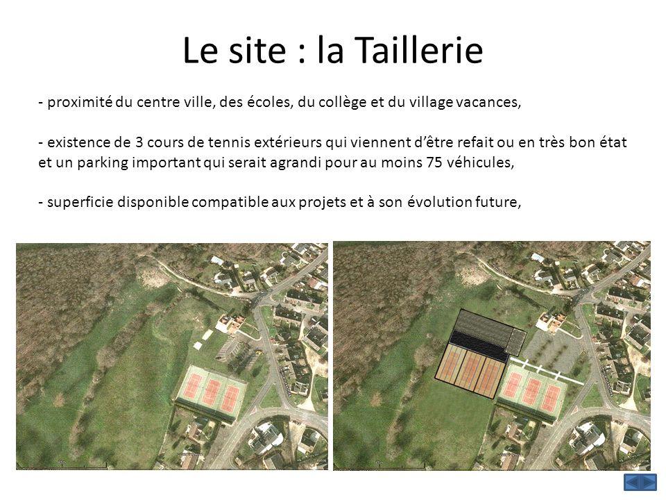 Le site : la Taillerie - proximité du centre ville, des écoles, du collège et du village vacances,