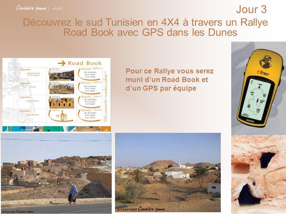 Jour 3Découvrez le sud Tunisien en 4X4 à travers un Rallye Road Book avec GPS dans les Dunes.