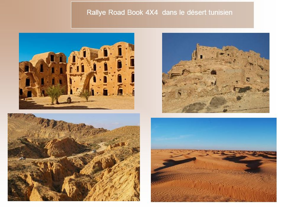 Rallye Road Book 4X4 dans le désert tunisien