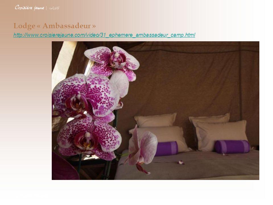 Lodge « Ambassadeur »http://www.croisierejaune.com/video/31_ephemere_ambassadeur_camp.html.