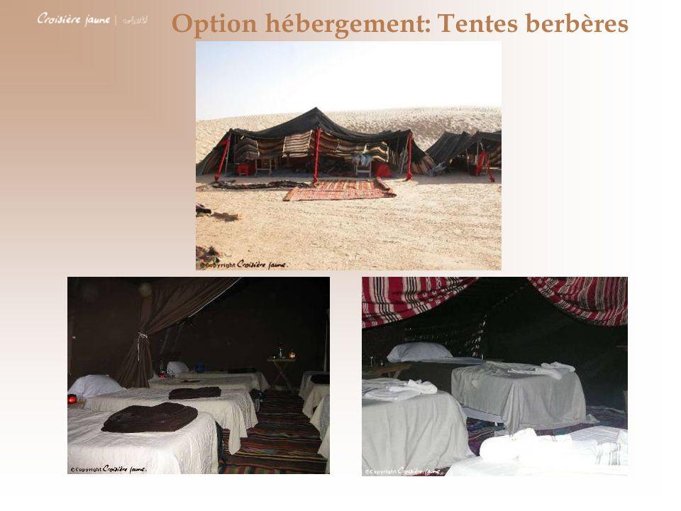 Option hébergement: Tentes berbères