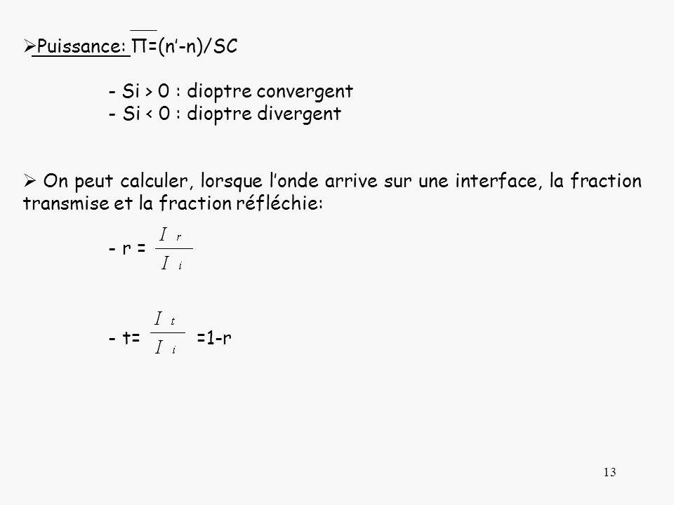 Puissance: П=(n'-n)/SC
