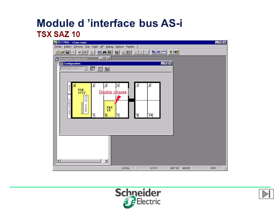Module d 'interface bus AS-i TSX SAZ 10