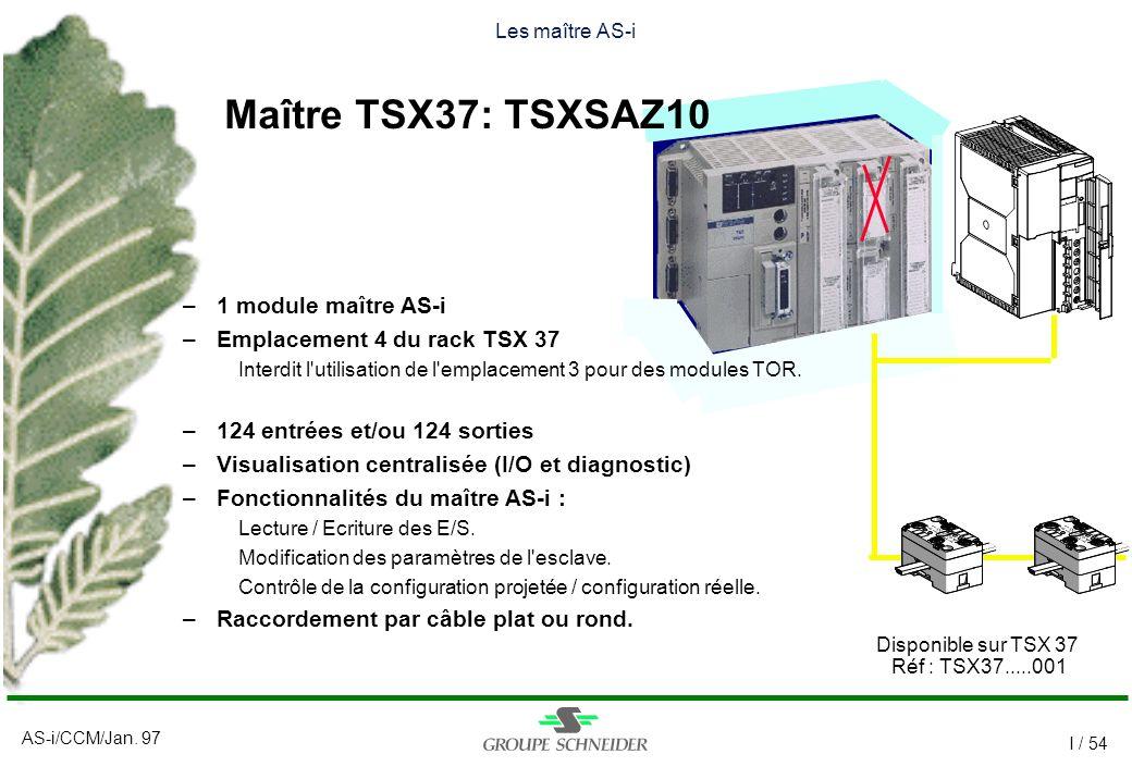 Maître TSX37: TSXSAZ10 1 module maître AS-i