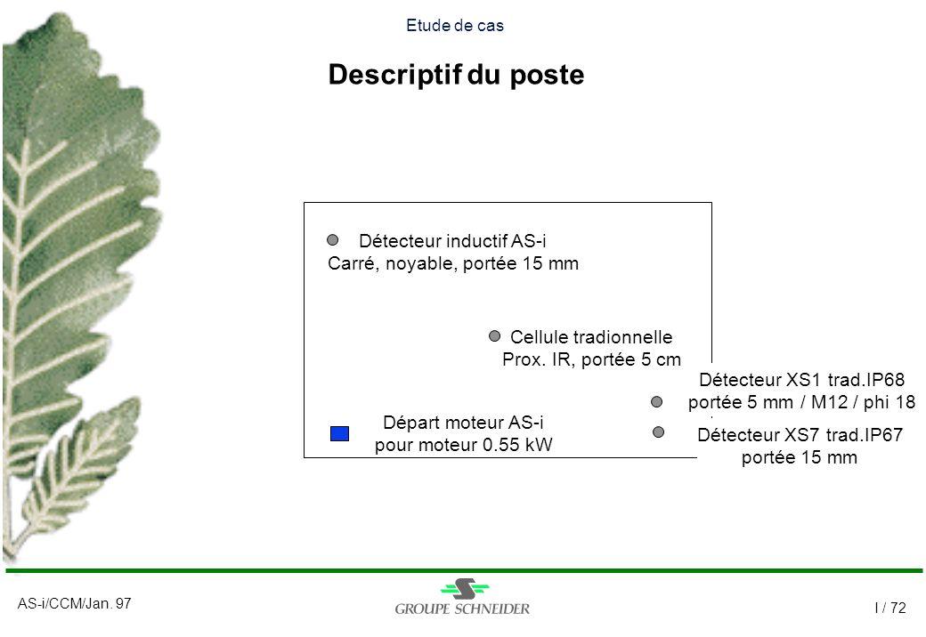 Détecteur inductif AS-i Carré, noyable, portée 15 mm