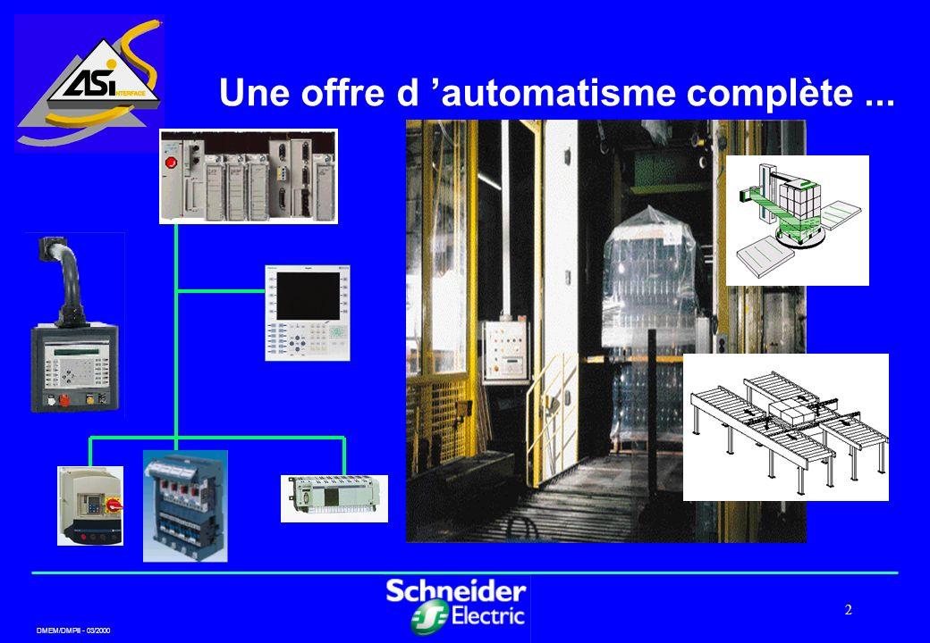 Une offre d 'automatisme complète ...