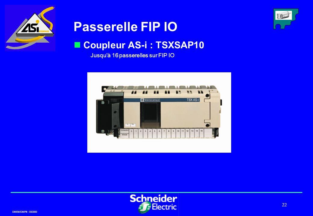 Passerelle FIP IO Coupleur AS-i : TSXSAP10