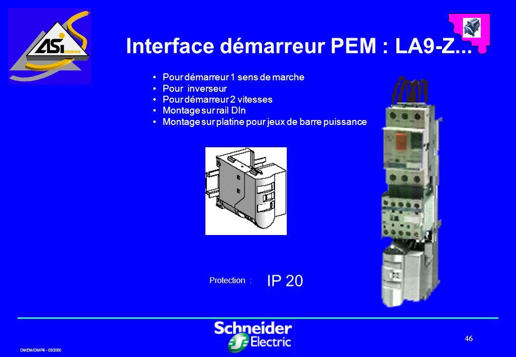 Interface démarreur PEM : LA9-Z...