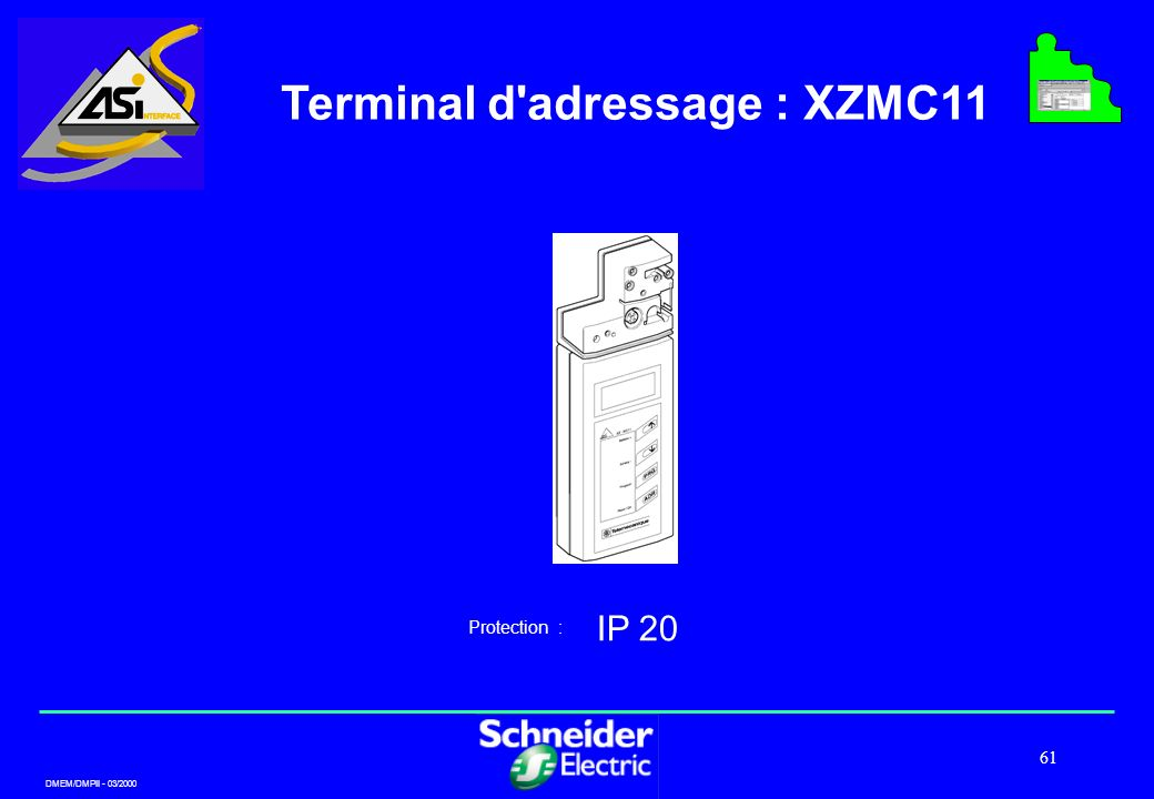 Terminal d adressage : XZMC11