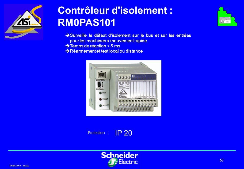 Contrôleur d isolement : RM0PAS101