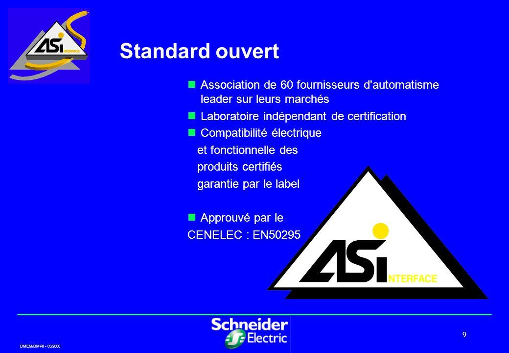Standard ouvert Association de 60 fournisseurs d automatisme leader sur leurs marchés. Laboratoire indépendant de certification.