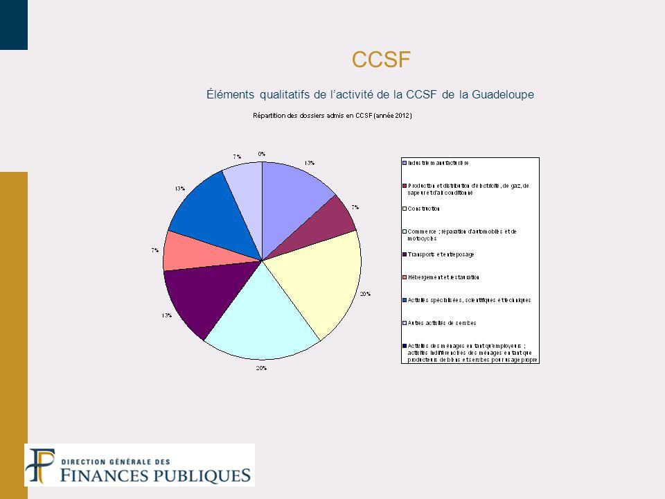 CCSF Éléments qualitatifs de l'activité de la CCSF de la Guadeloupe