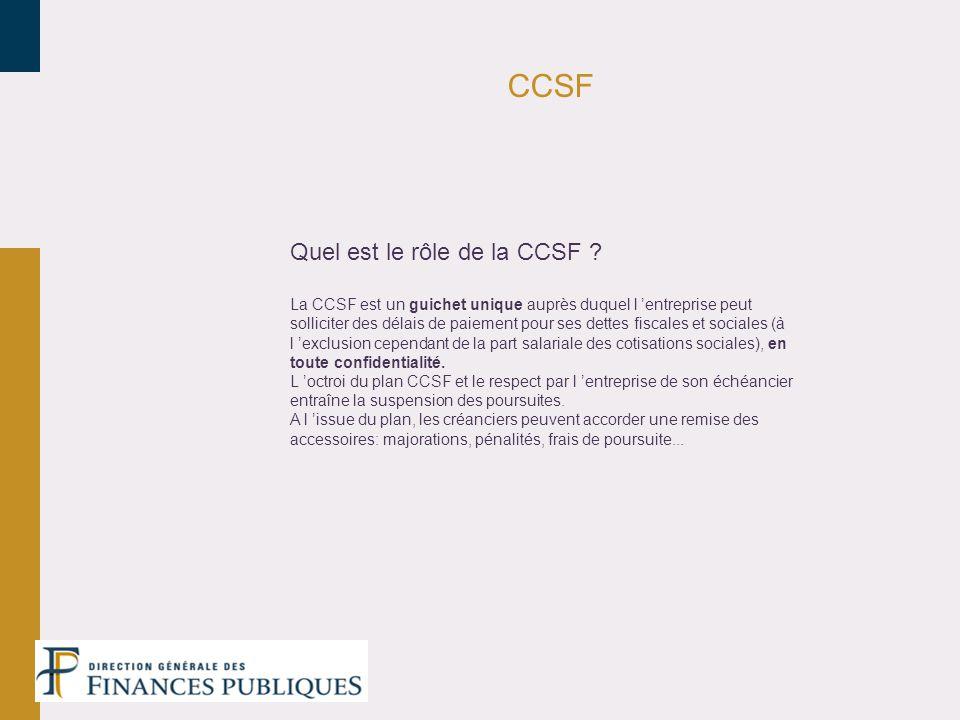 CCSF Quel est le rôle de la CCSF