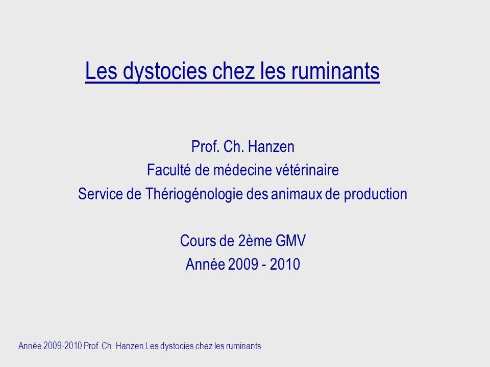 Les dystocies chez les ruminants