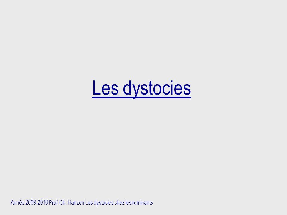 Les dystocies Année 2009-2010 Prof. Ch. Hanzen Les dystocies chez les ruminants