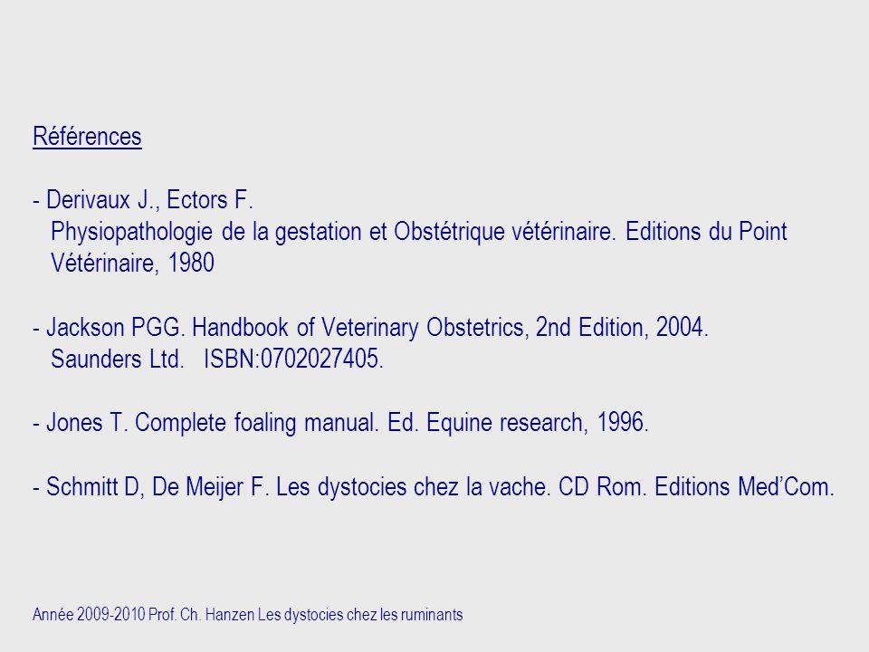 Références - Derivaux J. , Ectors F