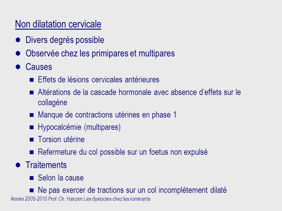 Non dilatation cervicale