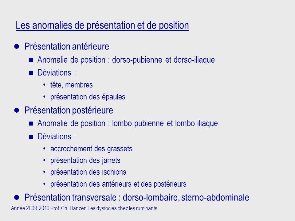 Les anomalies de présentation et de position