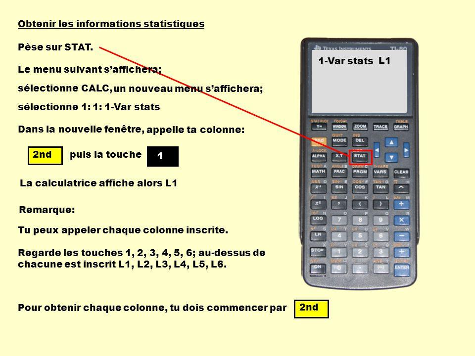 Obtenir les informations statistiques
