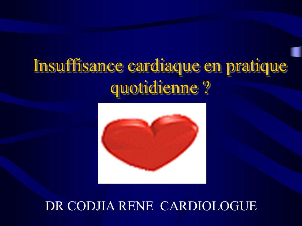 Insuffisance cardiaque en pratique quotidienne