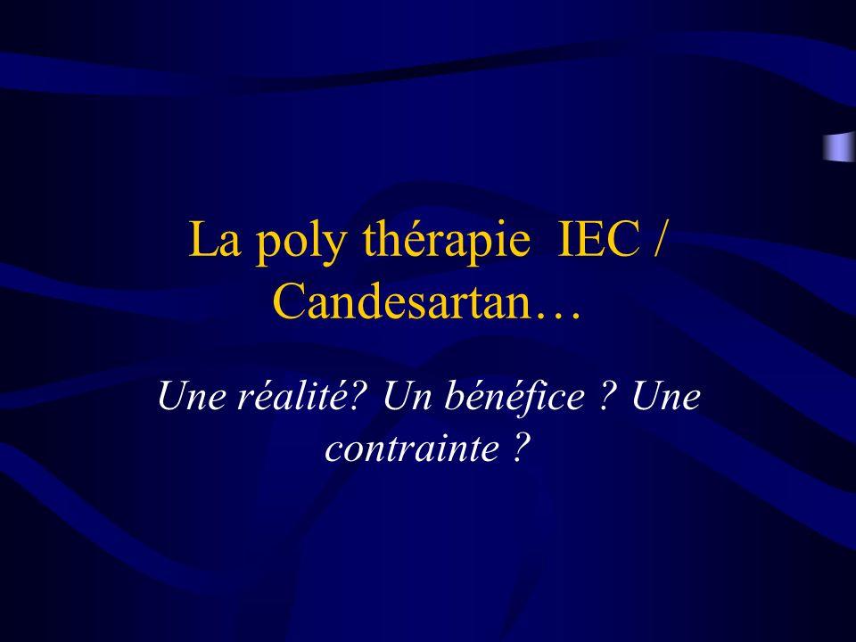 La poly thérapie IEC / Candesartan…
