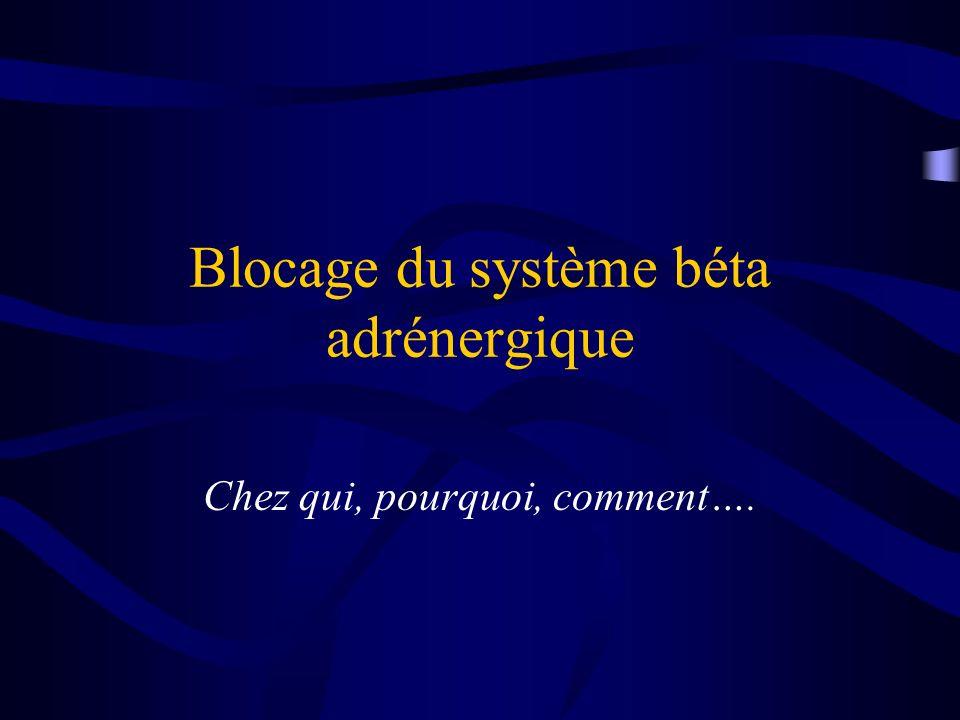 Blocage du système béta adrénergique