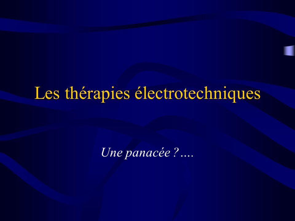 Les thérapies électrotechniques