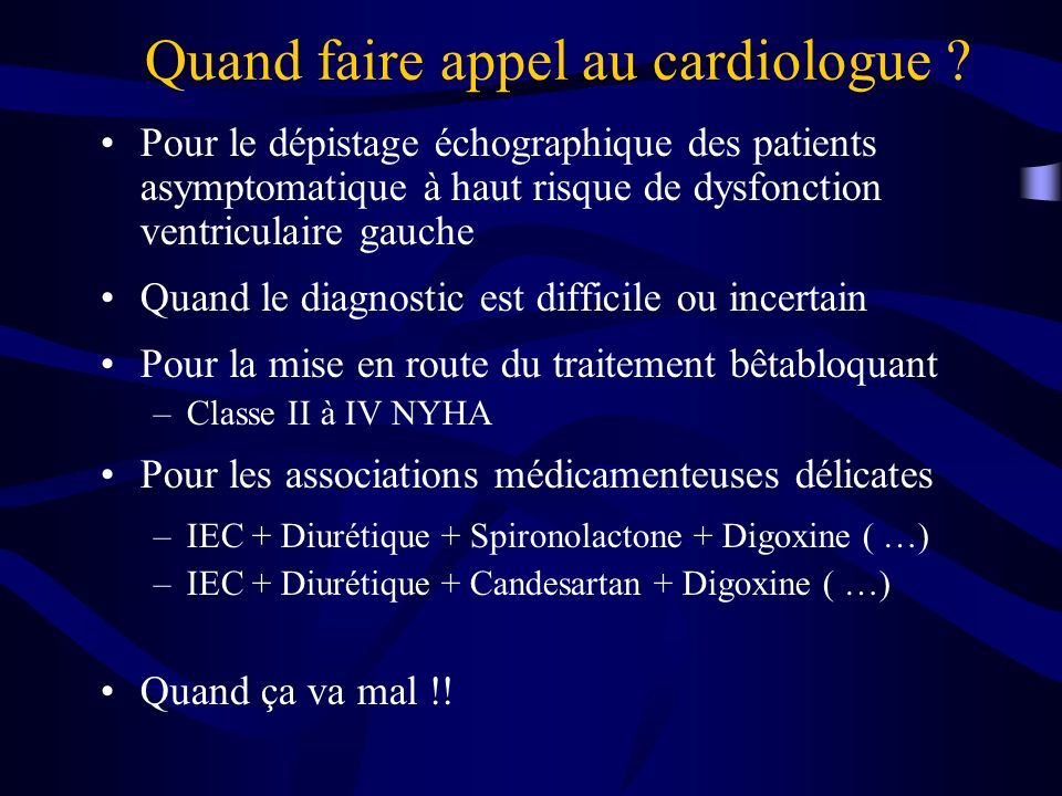 Quand faire appel au cardiologue