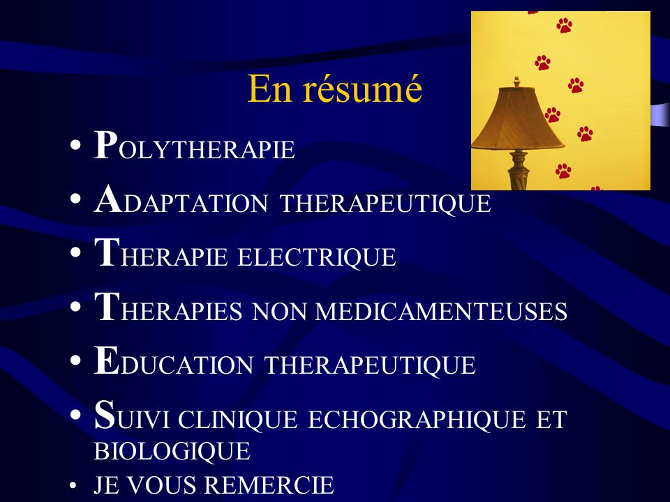ADAPTATION THERAPEUTIQUE THERAPIE ELECTRIQUE