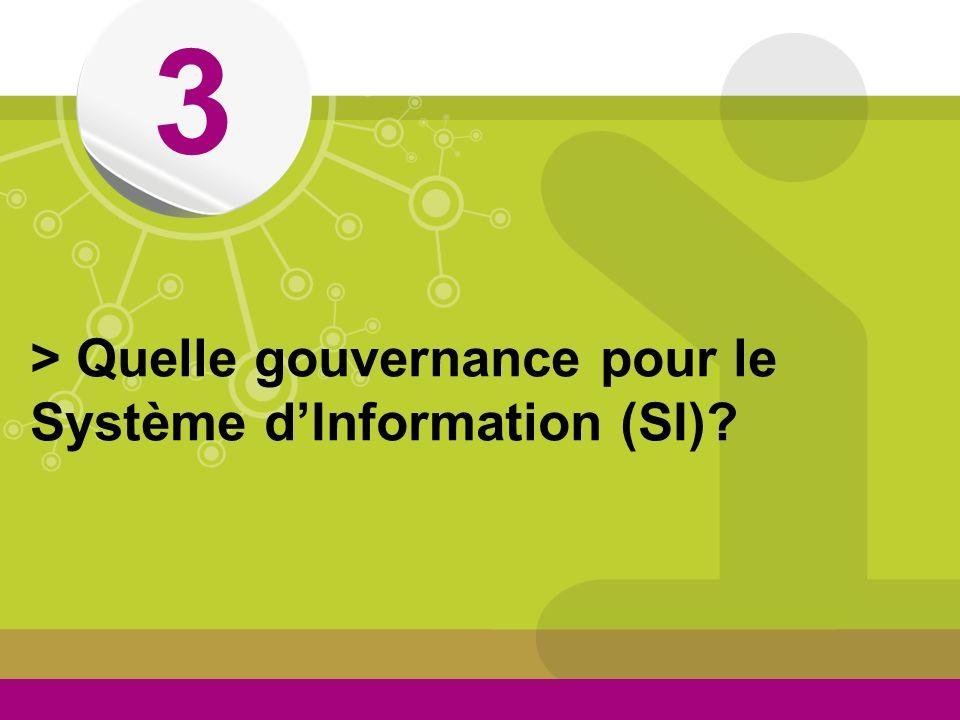 3 > Quelle gouvernance pour le Système d'Information (SI)