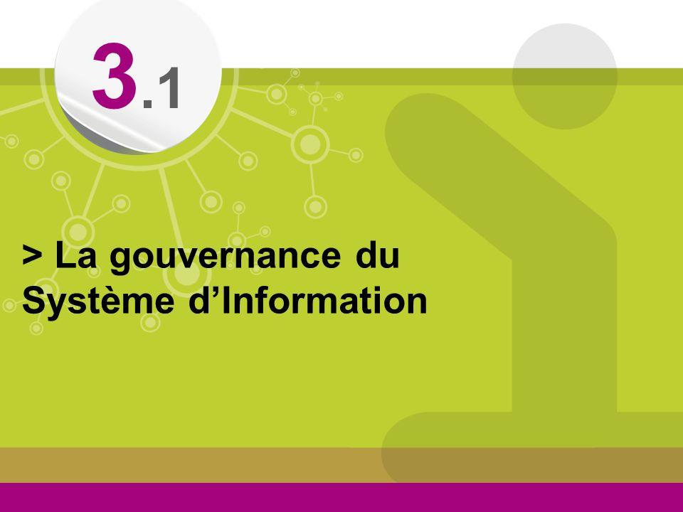 3.1 > La gouvernance du Système d'Information