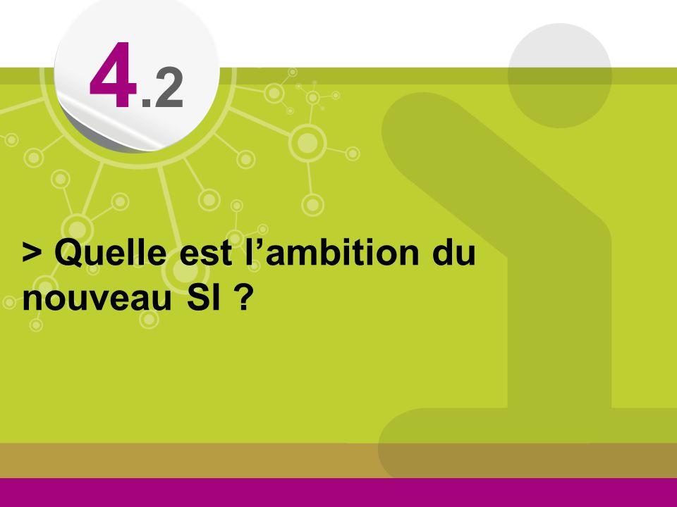 4.2 > Quelle est l'ambition du nouveau SI
