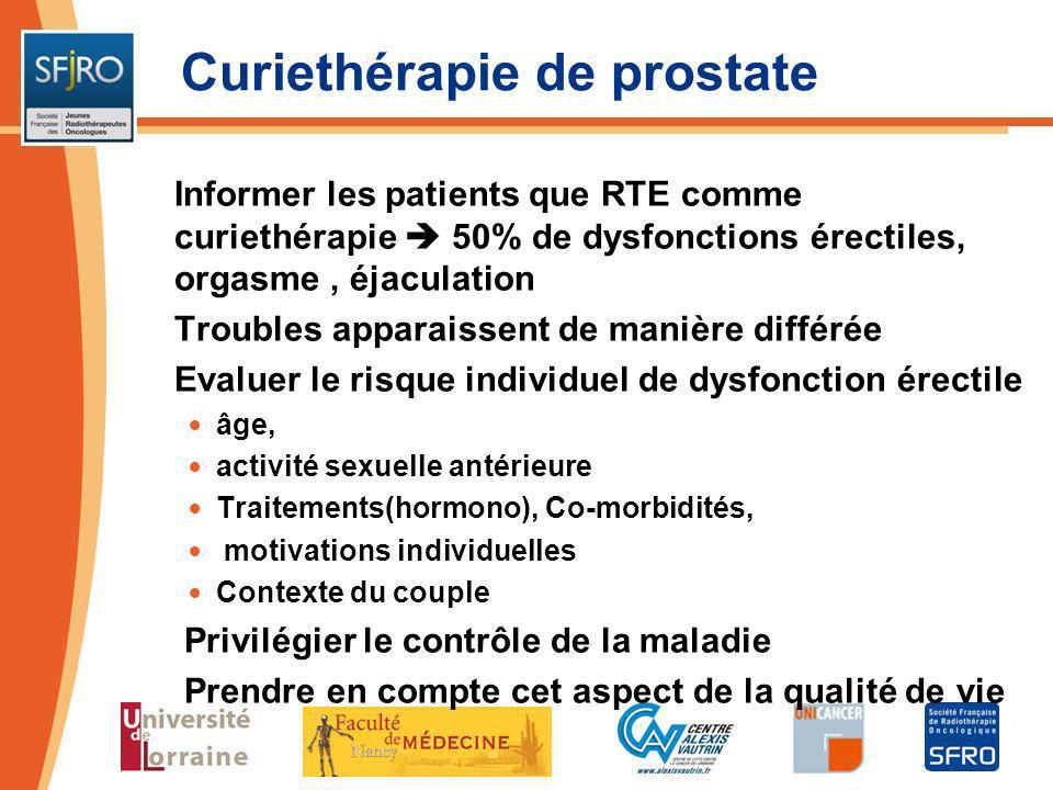 Curiethérapie de prostate