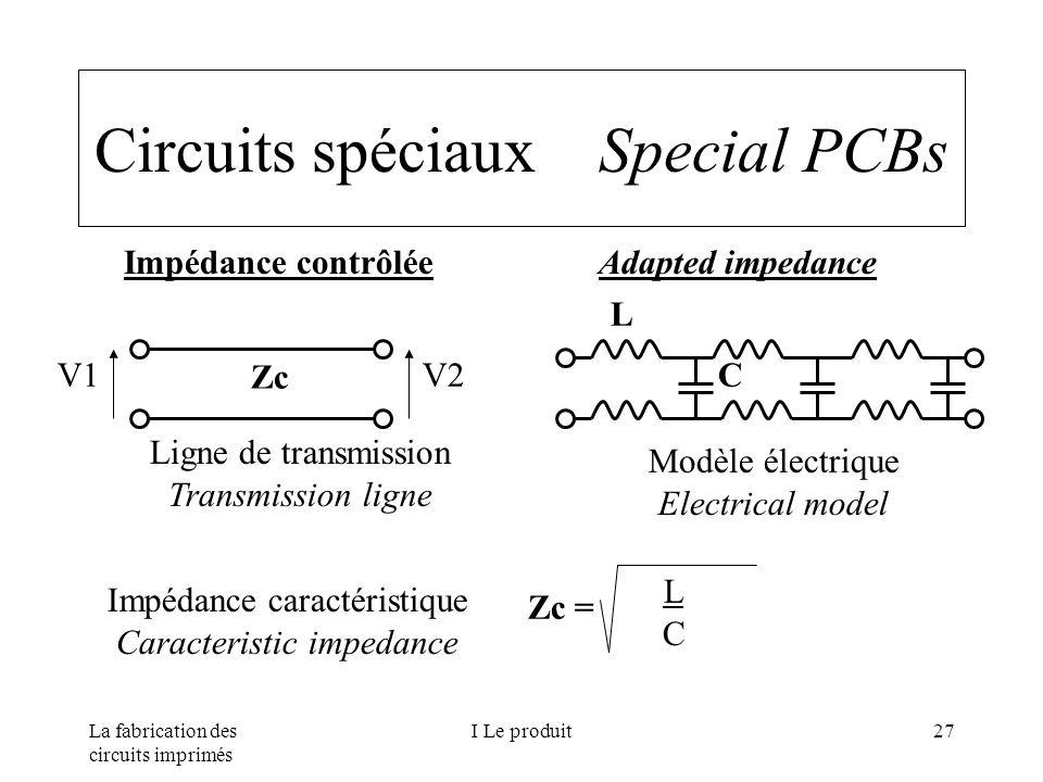 Circuits spéciaux Special PCBs